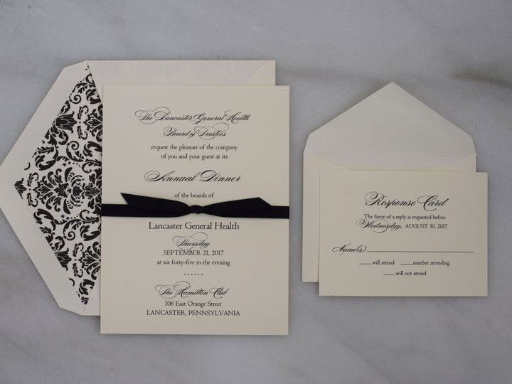 Tmx 1517414233 B1c6cb7e78ae0354 1517414229 54870163f67fcbdf 1517414218873 18 DSC 0832 Lancaster, Pennsylvania wedding invitation