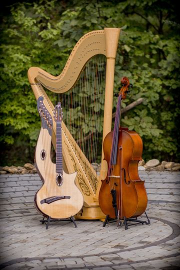 Strings and harp