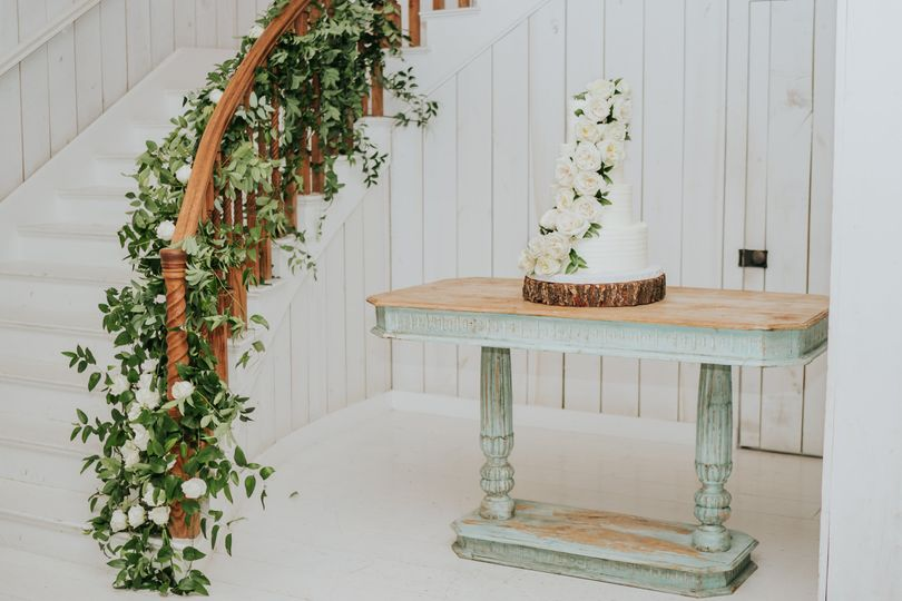 Cake by the staircase