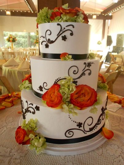 Piping and floral decorations