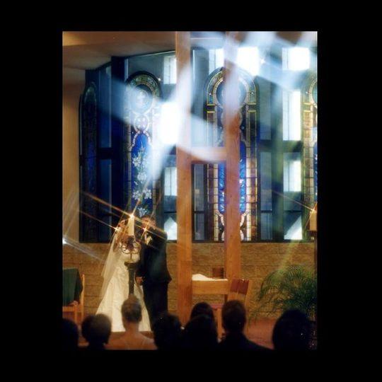 Church details Wedding unity candle