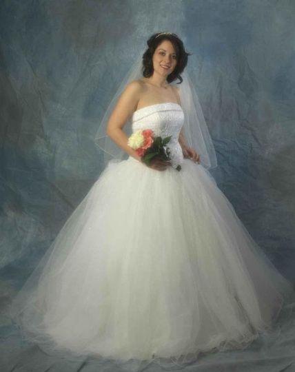 Full length bridal portrat