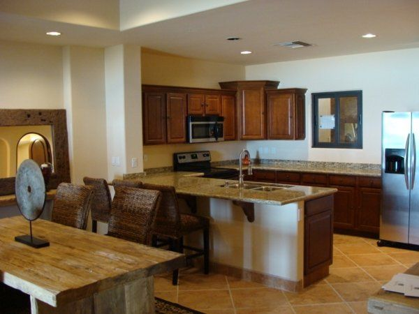 Full kitchens with granite counters