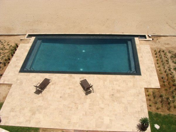 Oceanfront pool with expansive patio