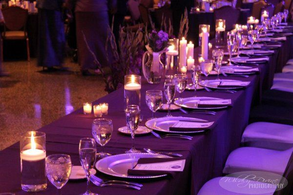 A Head Table that allows warmth, a candlelight glow, and an open invitation for guests to express...