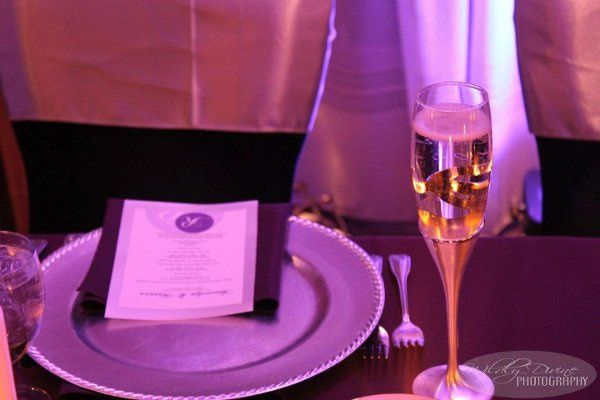 The violet glow gives a festive atmosphere as the bubbly flows all night!
