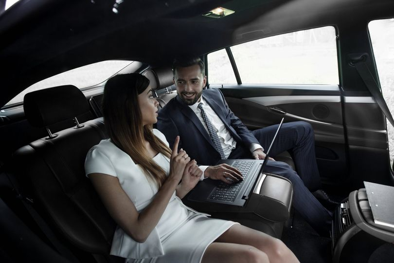 Inside the luxury sedan