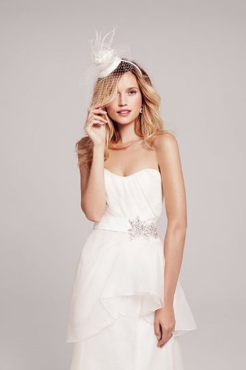 Nouvelle Amsale - #R103G  Created in silk organza, this trumpet-shaped gown has a ruched sweetheart...