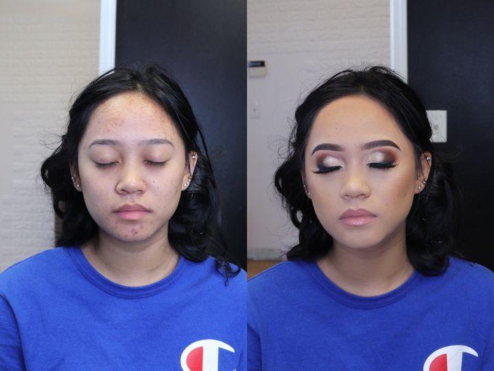 Shimmering eyeshadow
