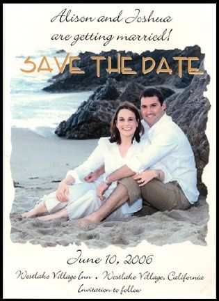 Custom Beach Photo Save the Date Card These are fun to make and fun to receive.  And once you have...
