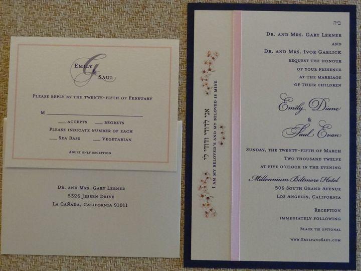 Tmx 1342041111935 DSC00967 Westlake Village wedding invitation