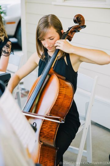 Woman playing a cello