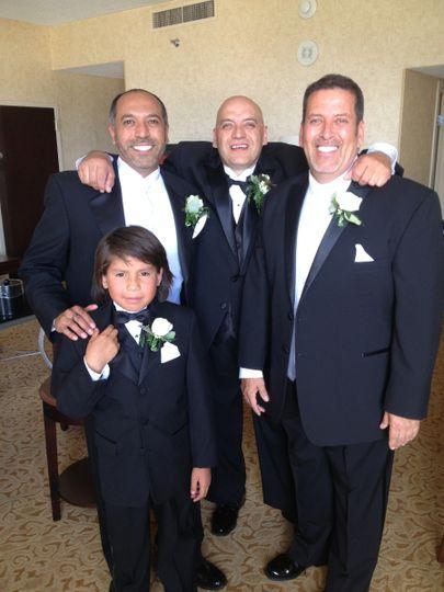 Men of the wedding