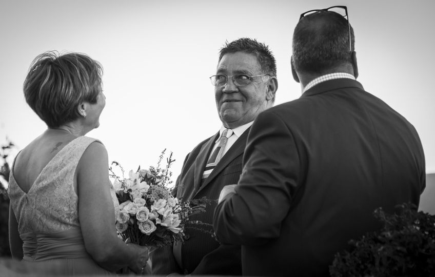 Smiles at the wedding