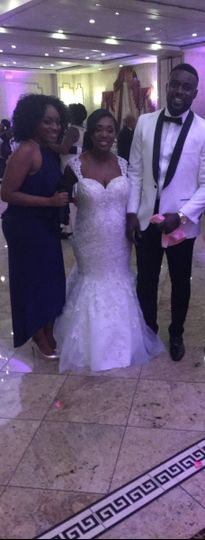 The couple with the wedding planner