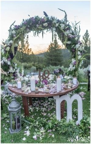 Circle arch with sweetheart