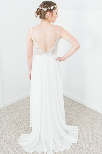 Back of wedding dress!