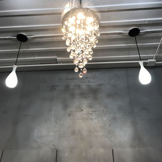 Stunning lighting throughout the store.