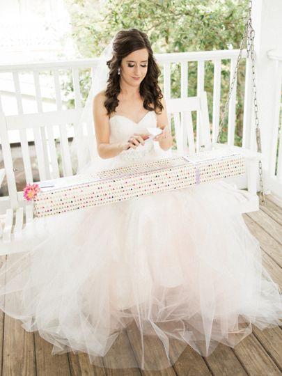 Bride at the porch
