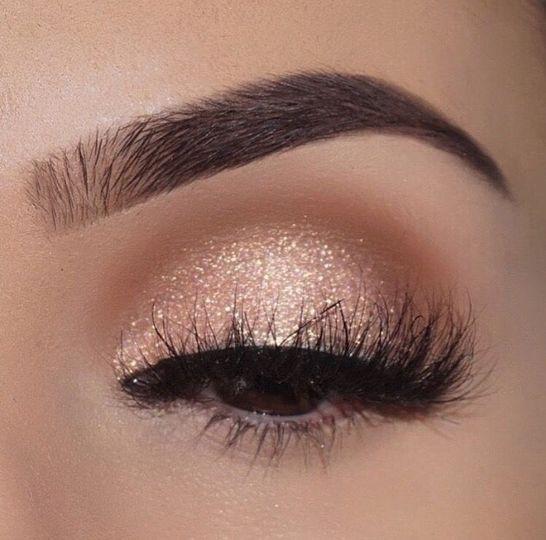 Eye shadow and brow work