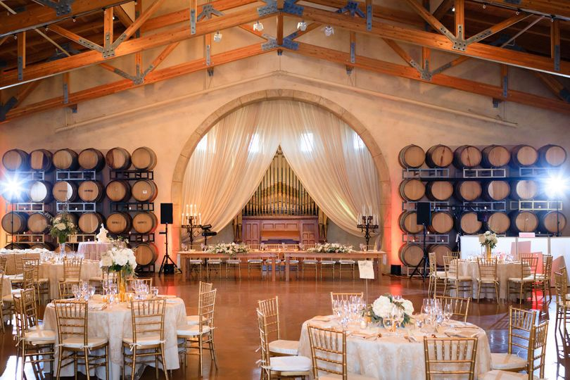 Wine country reception