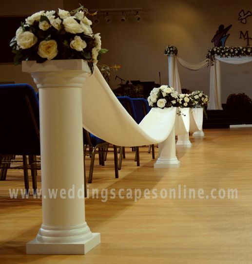decorative columns for weddings column designs unique services skiatook ok weddingwire 3452