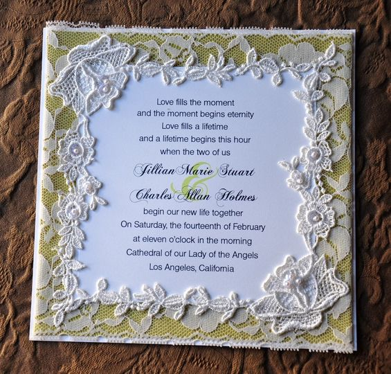 800x800 1381875560536 Lace Invitation Gold Background; 800x800  1381875569218 Lace With Green Dupioni Silk ...