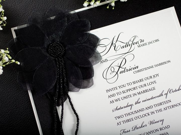 Tmx 1378233582464 Classic Black Wedding Invitation Glendale wedding invitation