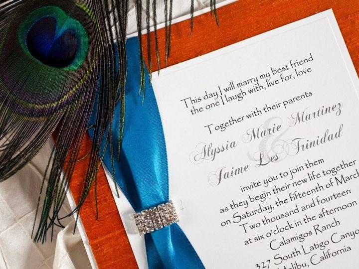 Tmx 1378233623100 Fall Peacock Wedding Invitatiion Glendale wedding invitation