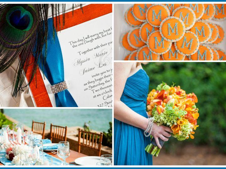 Tmx 1378253888920 Peacock Blue And Orange Glendale wedding invitation