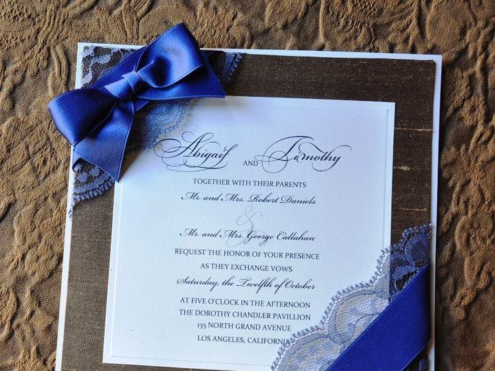 Tmx 1381875551497 Blue Lace With Ribbon Glendale wedding invitation