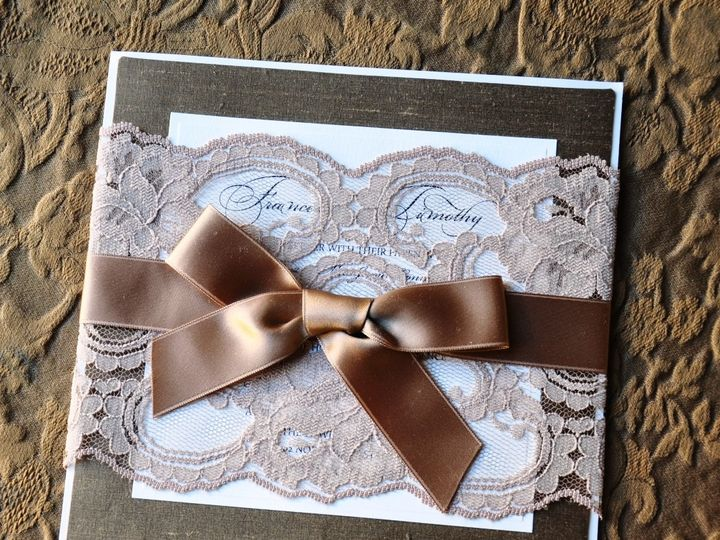 Tmx 1381875577257 Lace Invitation 2 Glendale wedding invitation