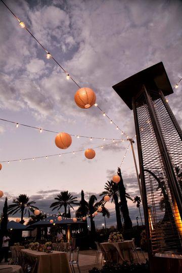 Market lights in East Garden