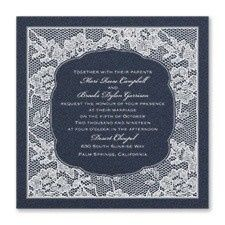 Blue backdrop with lace border