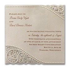 Tmx 1455926191170 Vintage Pearl And Lace Maywood, New Jersey wedding invitation