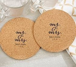 Tmx 1457215295686 22056na Mm Mr Mrs Round Cork Coaster Prs Ka S Maywood, New Jersey wedding invitation