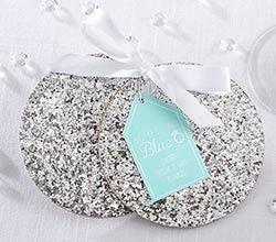 Tmx 1457215306128 22061sv Silver Sparkle Coasters Ka S Maywood, New Jersey wedding invitation
