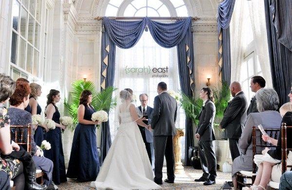 the hermitage hotel wintry wedding flowers by bel