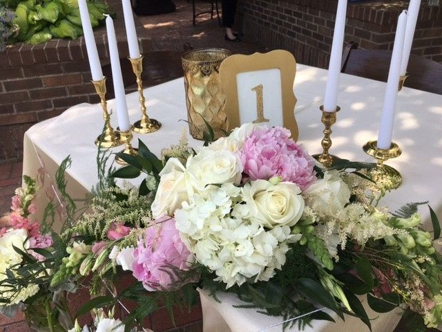Flower decor and candles