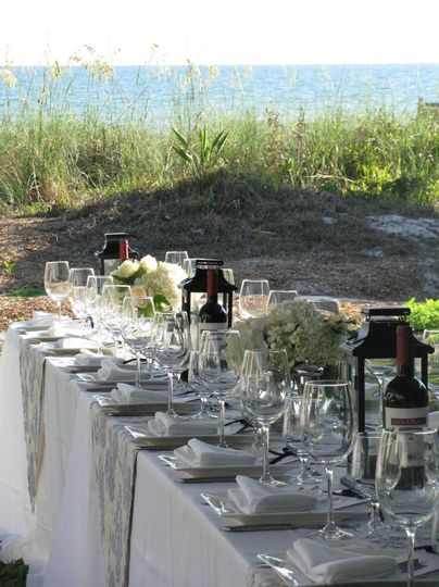 Private beach wedding for 120 on Longboat Key
