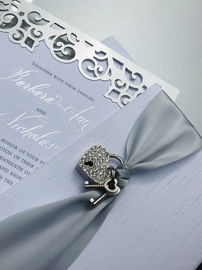 Custom foil die cut invitation