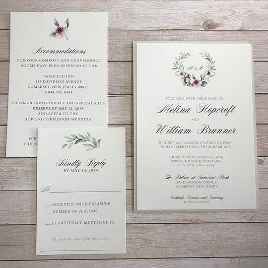 Custom watercolor invitation