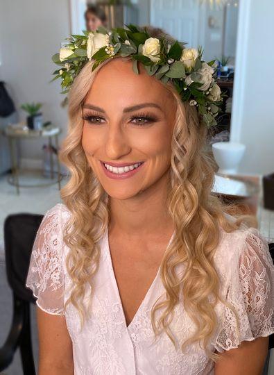 Natural glam bridal makeup