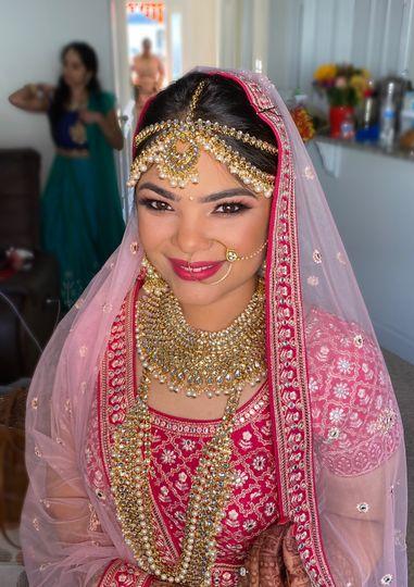 Traditional Indian bridal make