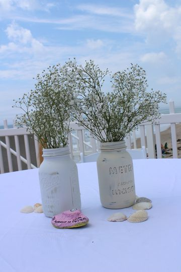 Mason Jars by The Sea
