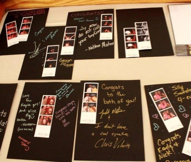 Photo Guest Book.    How does the Photo Guest Book work? Two (2) sets of photo-strips are printed....
