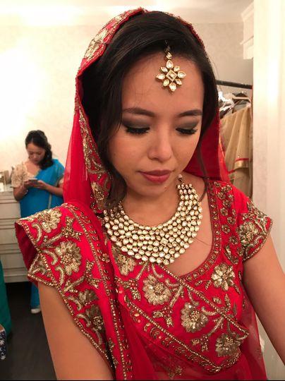 Asian bride w/ Indian makeup