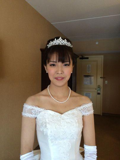 Classy wedding look