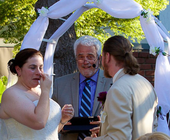 Kerry & Alex. July 4, '15Kerry cried from the very beginning. Hottest wedding we've ever done.