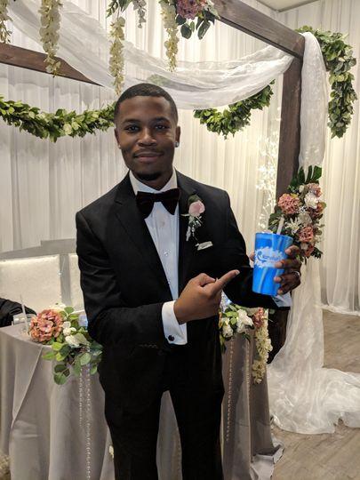 Satisfied groom!